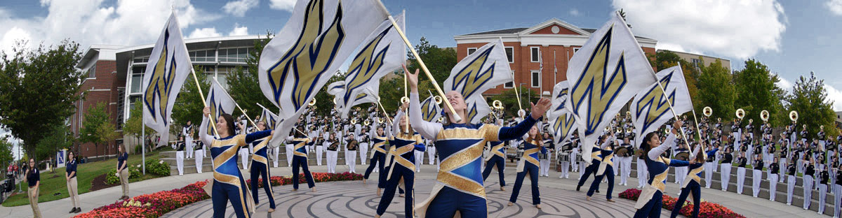 UA's marching band performs on Coleman Common