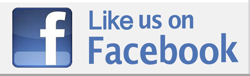 Facebook logo inviting you to like our UA International facebook page.